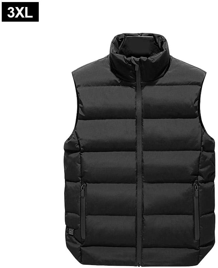 Interesty Heated Vest, USB Charging Electric Lightweight Body Warmer Clothes Jacket for Men&Women Hiking, Hunting, Motorcycle, Camping
