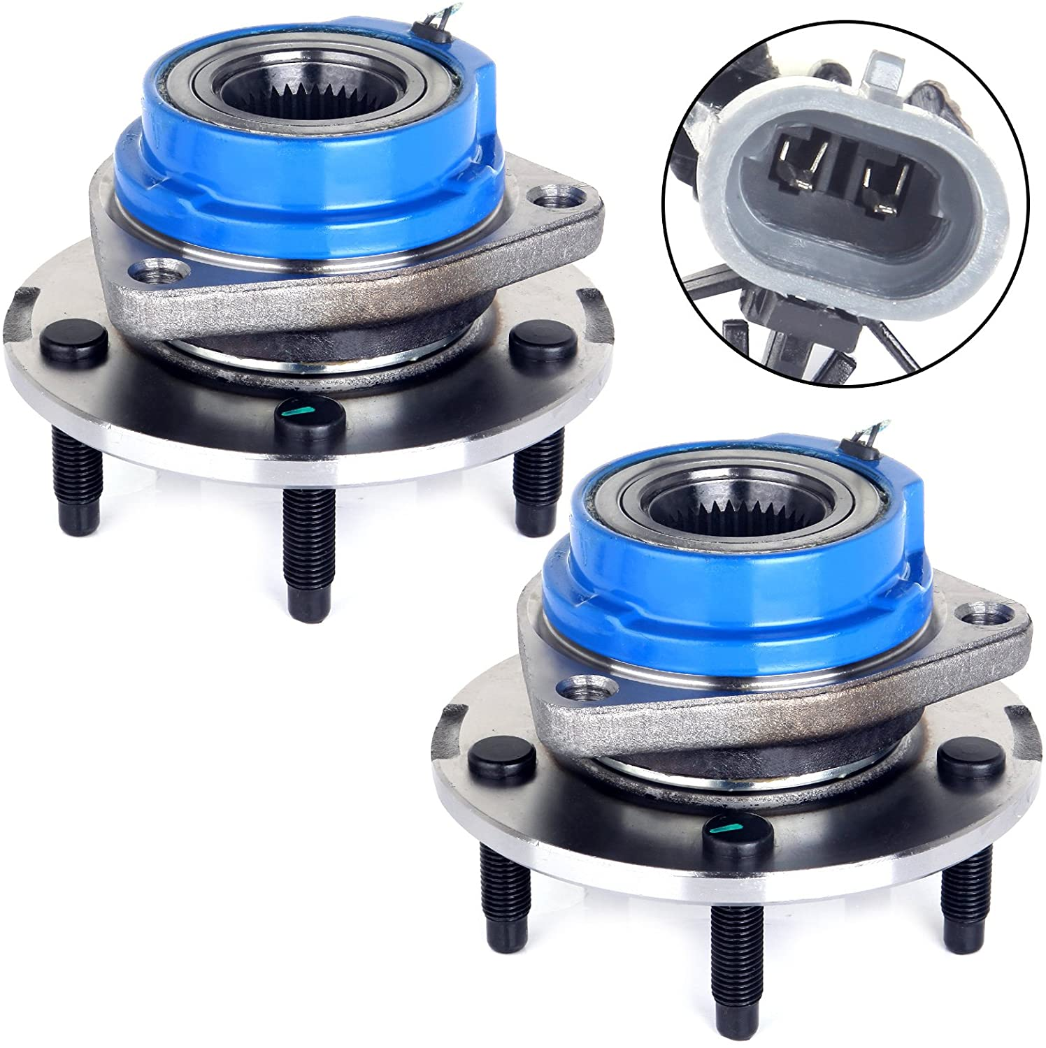 ECCPP 513179 Front Wheel Hub and Bearing Assembly C hevy Impala Venture Monte Carlo, Century Regal, C adillac Seville,O ldsmobile Intrigue,P ontiac Grand Prix FWD 5 Lugs ABS Left & Right