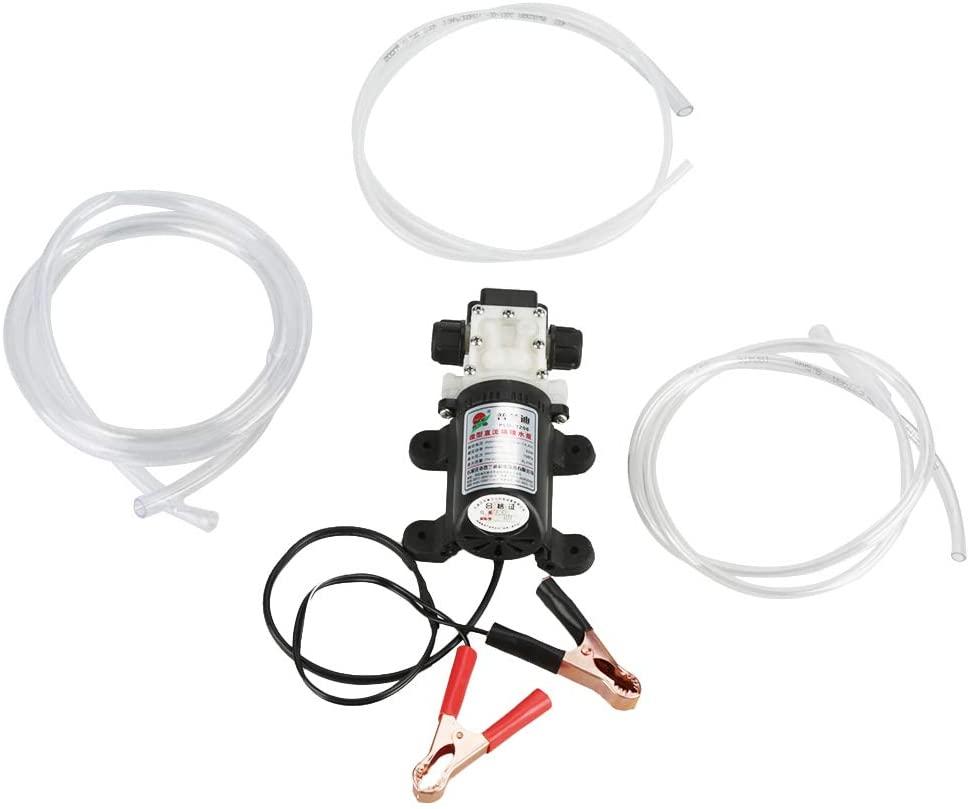 Fuel Transfer Pump Kit, 12V 45W Diesel Kerosene Oil Transfer Extractor Car Electric Oil Diesel Fuel Extractor Transfer Pump with Crocodie Clip