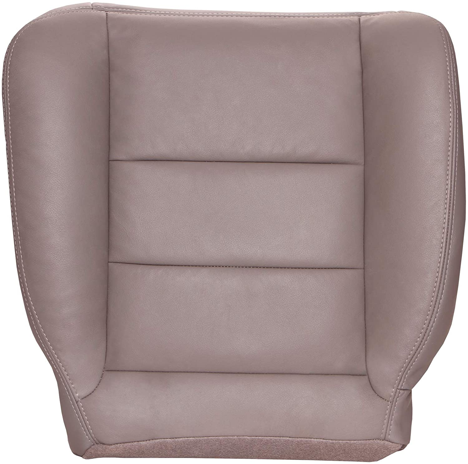 The Seat Shop Driver Bottom Replacement Leather Seat Cover - Medium Parchment Tan (Flare Seam) (Compatible with 2003-2004 Ford F250 and F350 Super Duty Lariat Extended Cab)