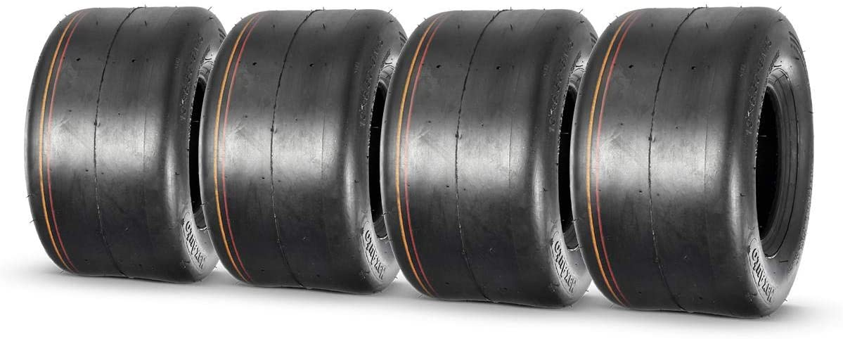 MaxAuto Turf Tires 13X6.50-6 13/6.5-6 13-6.5-6 4Ply Tubeless for Garden Tractor Lawn mower, Set of 4