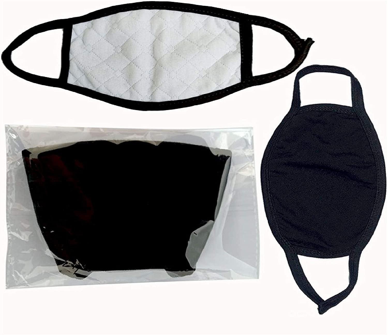 5 Piece Fashion Protective, Unisex Black Dust Cotton, Washable, Reusable Cotton Fabric