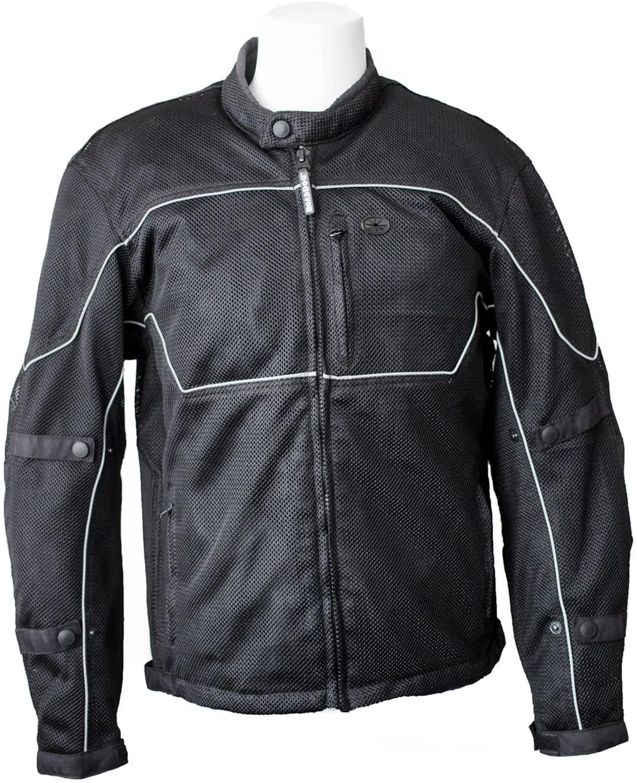 RoadDog Hurricane Mesh Motorcycle Riding Jacket Black Men's Medium