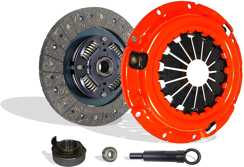 Clutch Kit Compatible With B2200 B2000 Mx-6 626 Capri XR2 BASE LE-5 SE-5 DX LX 2.0L l4 2.2L l4 GAS SOHC Naturally Aspirated 1.6L l4 GAS DOHC Turbocharged (Stage 1)