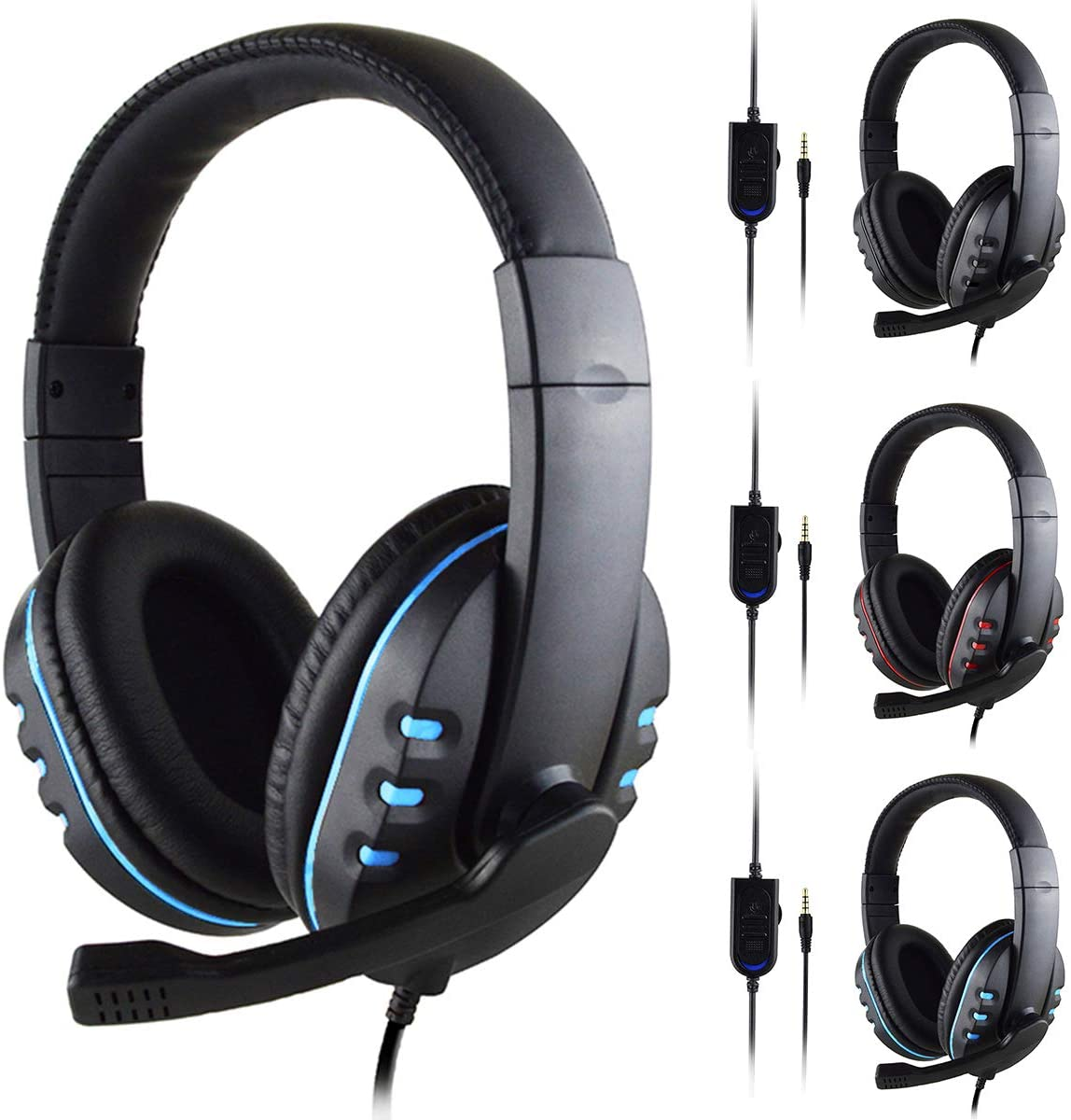 FAMKIT Headset Gaming Headset Mic Stereo Surround Headphone 3.5mm Wired Without Adapter for PS4 Xbox PC Xboxone