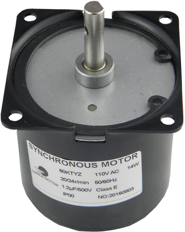 CHANCS 60KTYZ AC Synchronous Gear Motor 110V 20/24r/min CW CCW Torque 10Kgf.cm Control Electric Motor For Education Instruments