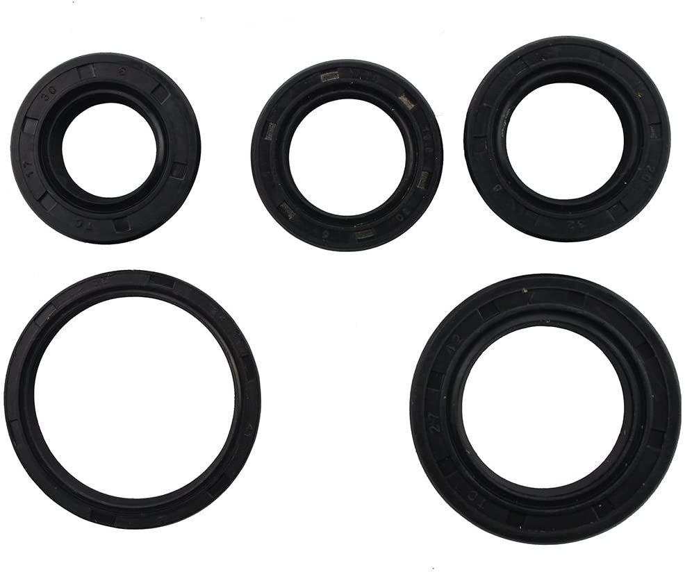 GOOFIT Complete Engine Oil Seal Kit for GY6 49cc 50cc 139qmb Scooter Moped ATV