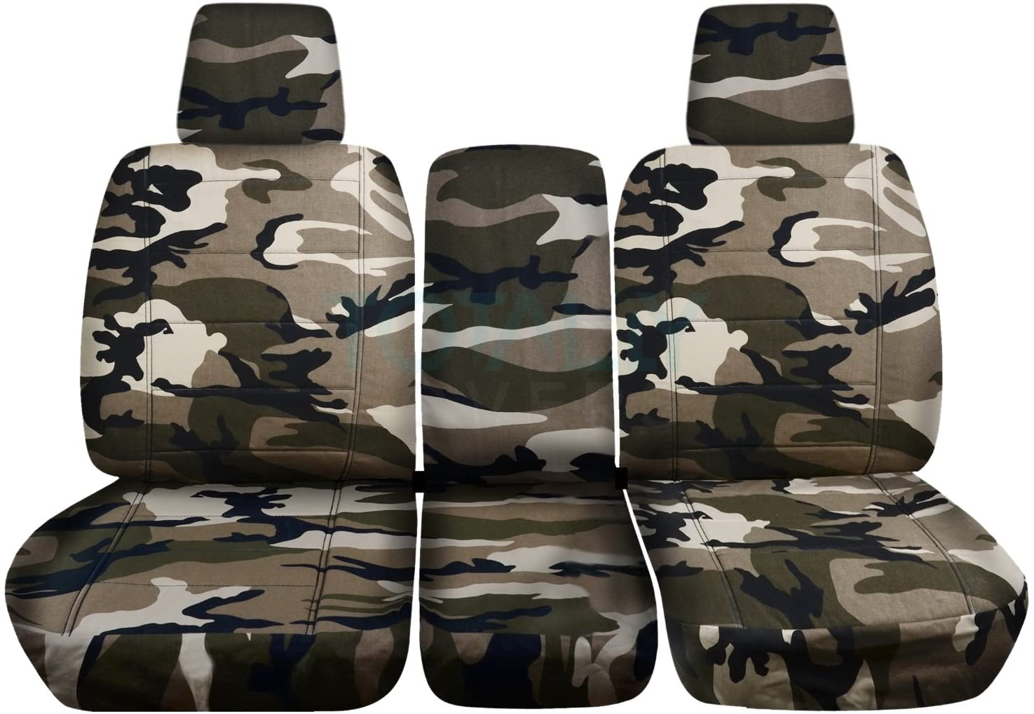 Totally Covers Compatible with 2004-2008 Ford F-150 Camo Truck Seat Covers (Front 40/20/40 Split Bench) w Center Console/Armrest, w/wo Integrated Seat Belts: Tan & Beige Camouflage F-Series F150