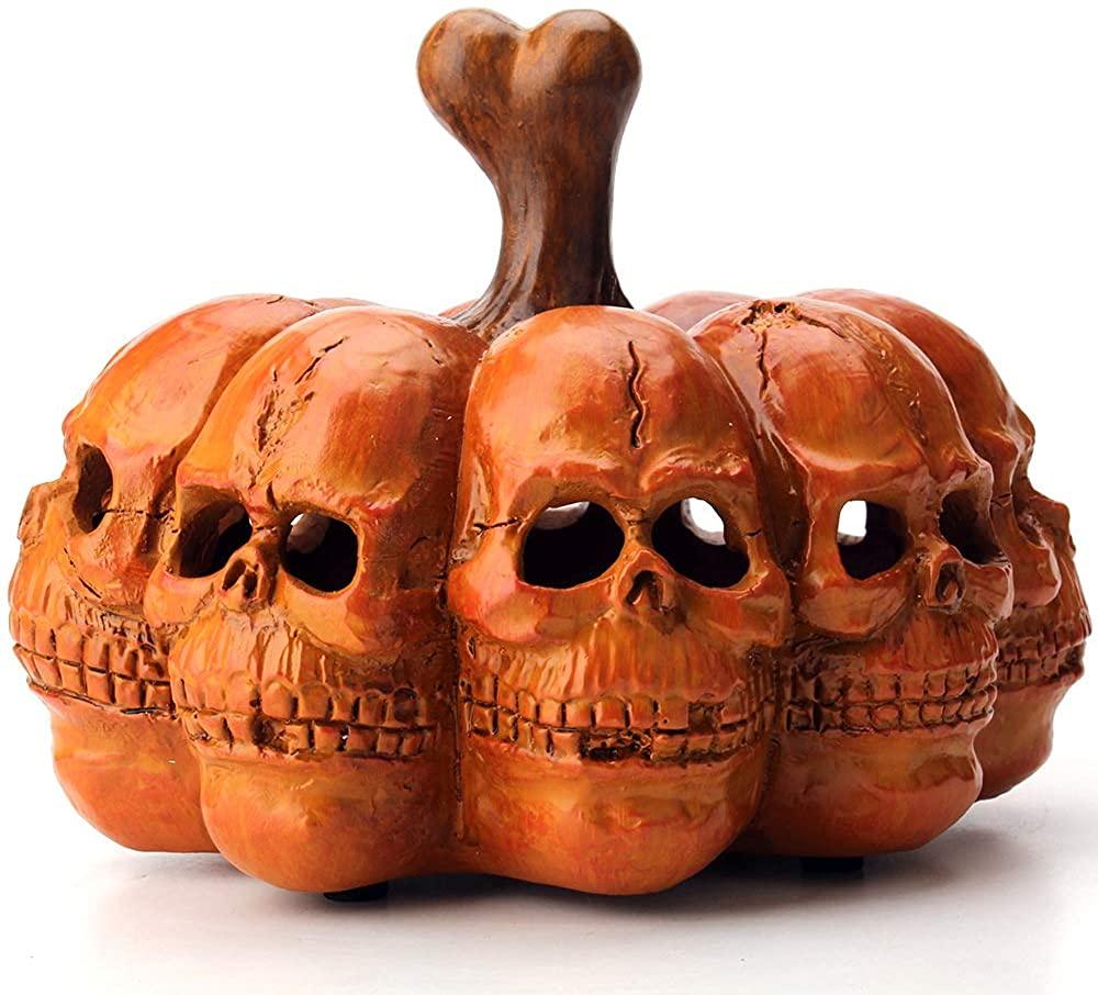 Halloween Led Pumpkin Skull Decorations lights Up decorative pumpkins Home Room Indoor Props Resin Ornament