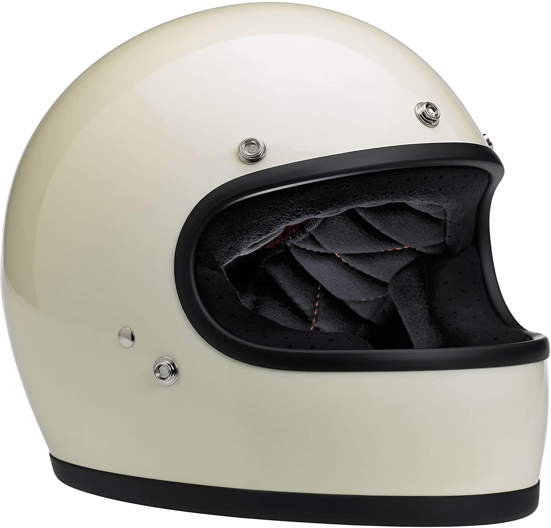 Biltwell Gringo Full Face Helmet (Gloss Vintage White, Small)