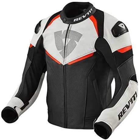 Revit Convex Motorcycle Jacket Black-Fluo Red 50