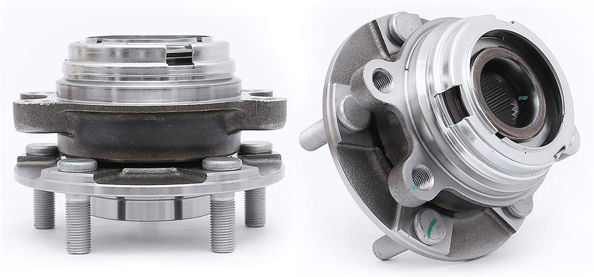 FKG 513310 Front Wheel Bearing Hub Assembly fit for 2003-2007 Nissan Murano, 2004-2009 Nissan Quest, 5 Lugs Set of 2