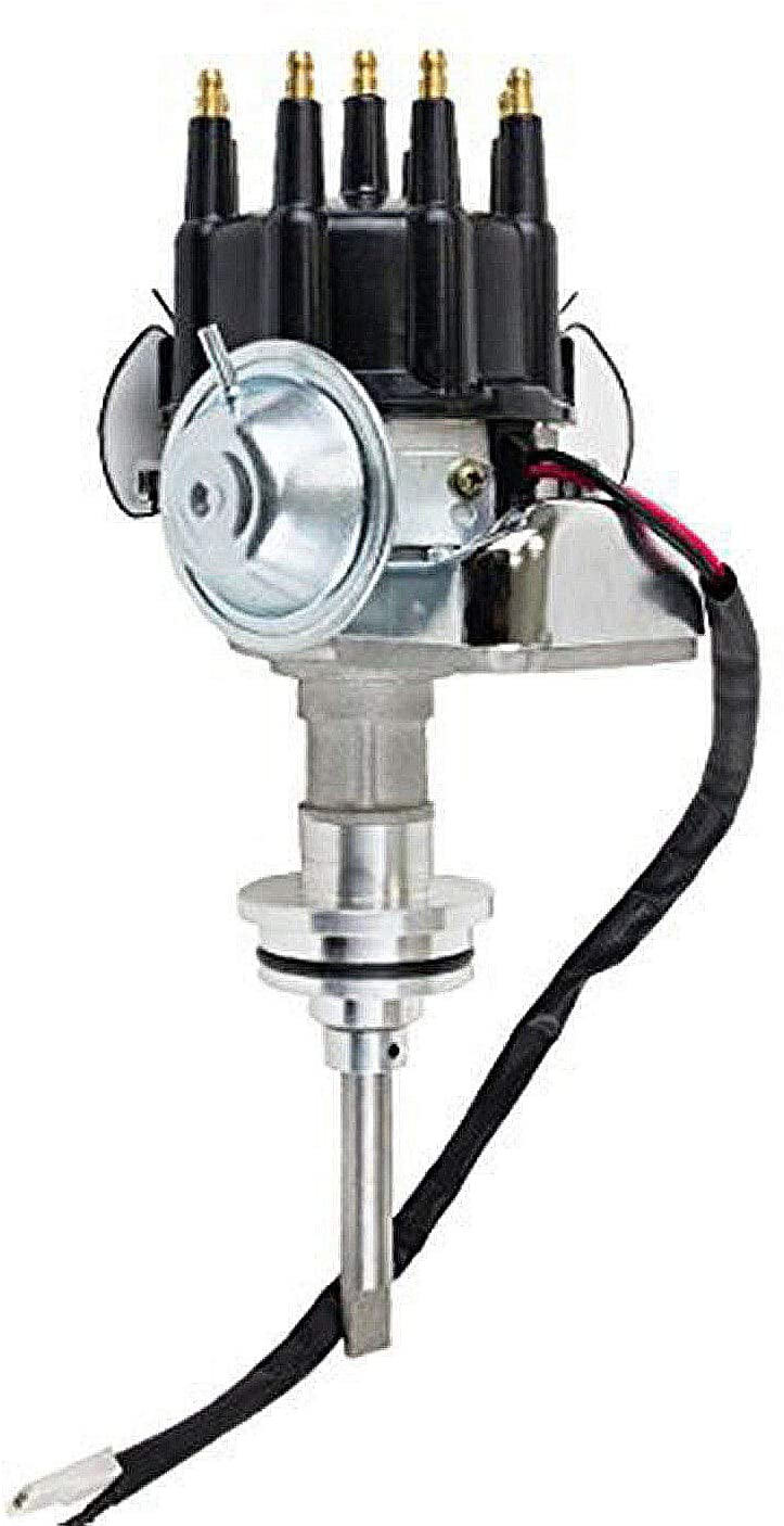 A-Team Performance R2R Complete Distributor Ready 2 Run Compatible with Mopar Chrysler Dodge Big Block 413 426 440 Two-Wire Installation Black Cap