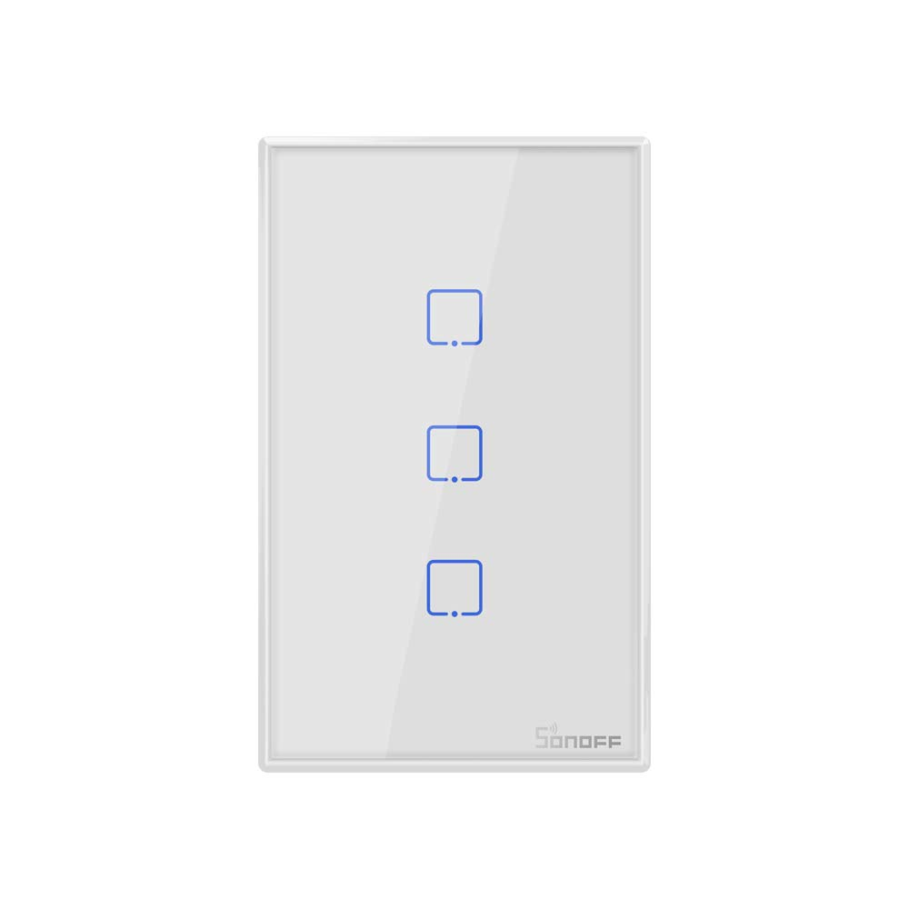 Sonoff TX T0 US 3 Gang WiFi Smart Wall Touch Light Switch,Works Perfectly with DHgate Alexa, Google Assistant. (Gang-3)