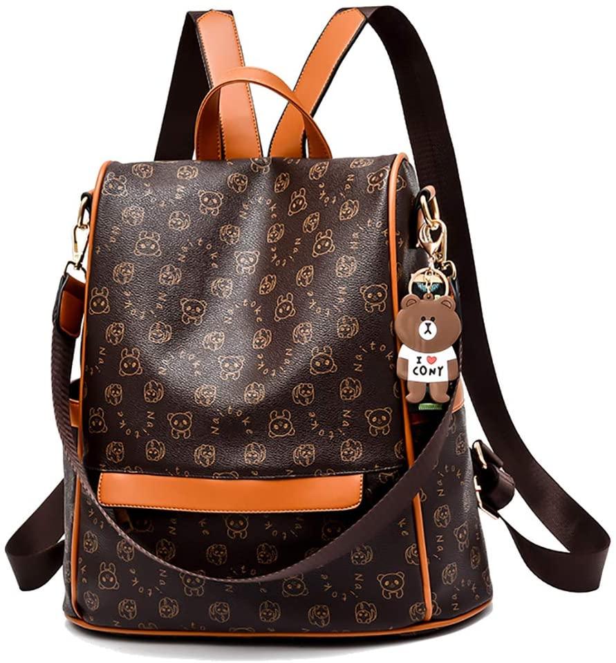 NAITOKE Women Backpack Anti-theft Backpack Lightweight Travel Shoulder Bag,0999 Brown