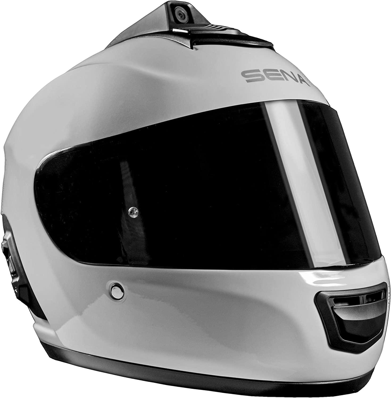 Sena Momentum INC Pro Bluetooth Camera Street Motorcyle Helmet - Glossy White/X-Large