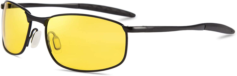 Karsaer Polarized Night Vision Driving Glasses for Men Anti Glare Sunglasses