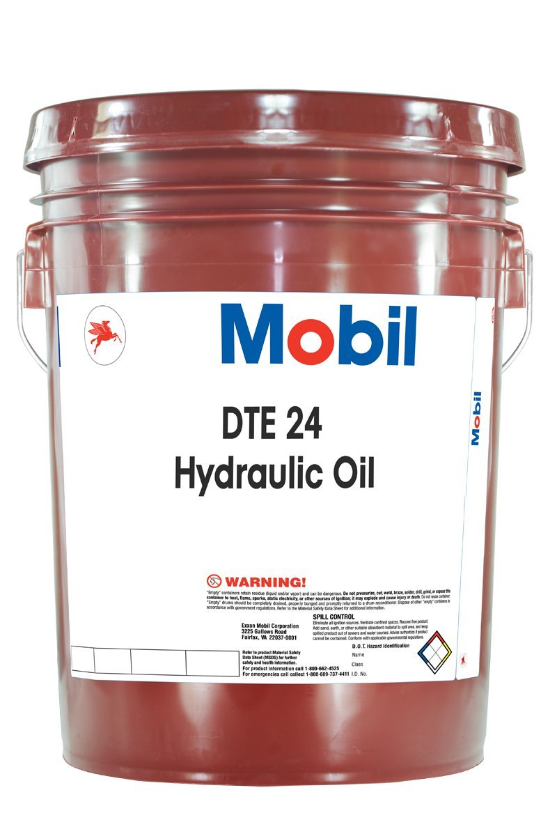 Mobil DTE 24, Hydraulic, ISO 32, 5 gal.