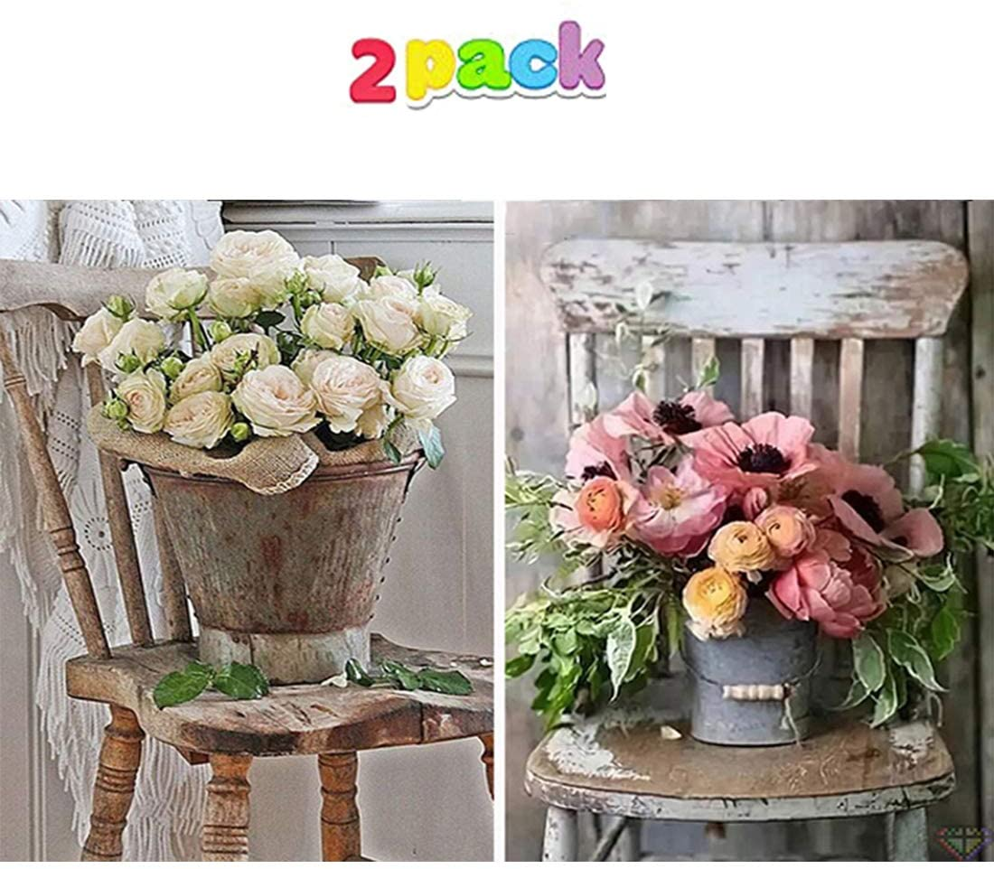 5D DIY Full Drill Diamond Painting, Flowers Pictures of Crystals Diamond Painting Kits,Arts, Crafts & Sewing Cross Stitch for Home Decor (12x16inch, Flower on Chair)