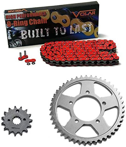 Volar O-Ring Chain and Sprocket Kit - Red for 1988-1989 Suzuki GSXR 750