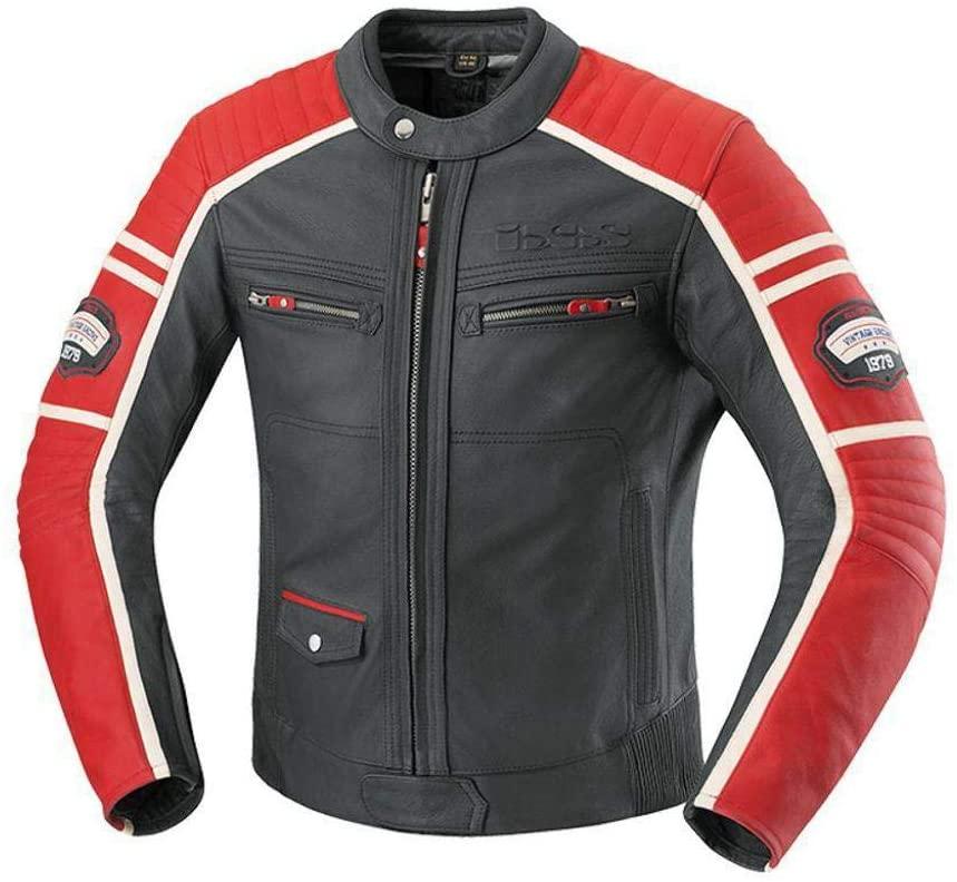 IXS Men's Curtis Jacket (Dark Brown/Light Brown/Sand, Size US 48/Size EU 58)