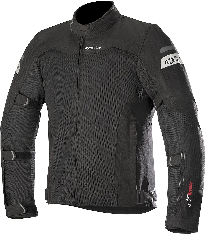 Alpinestars Men's Leonis Drystar Air Motorcycle Jacket, Black, Small