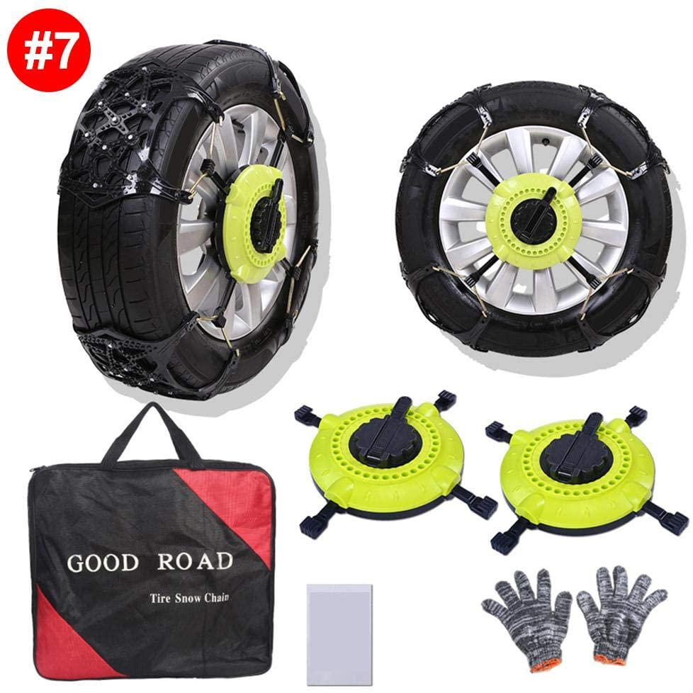 weemoment Car Anti-Skid Tire Chains Snow Chains, Reusable Car Anti Slip Tire Traction Easy Installation/Removal for Car Truck SUV Emergency Winter Driving Exceptional