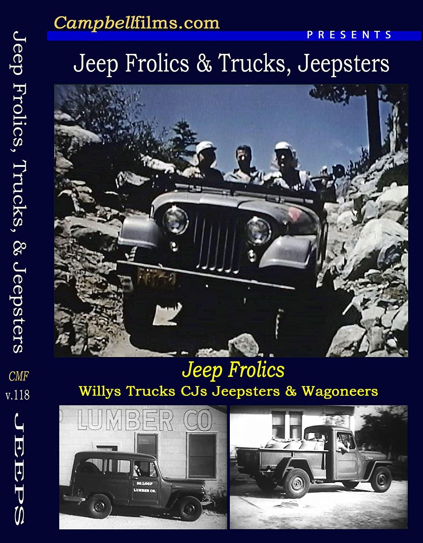 Jeep Frolics Willys CJ5 Wagoneer Jeepster Gladiator Trucks old films DVD