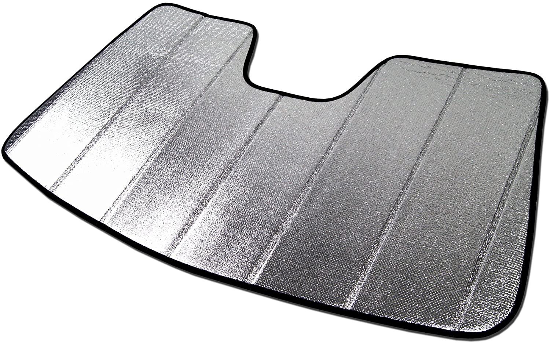 Tuningpros SS-011 Custom Fit Car Windshield Sun Shade Protector, Sunshade Visor Silver & Grey 1-pc Set Compatible With 2008-2017 Audi A5