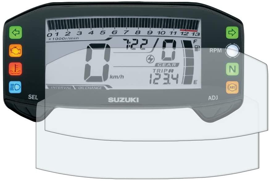 Speedo Angels Dashboard Screen Protector for SUZUKI GSX-R125 / S125 (2017+) - 1 x Ultra Clear & 1 x Anti Glare