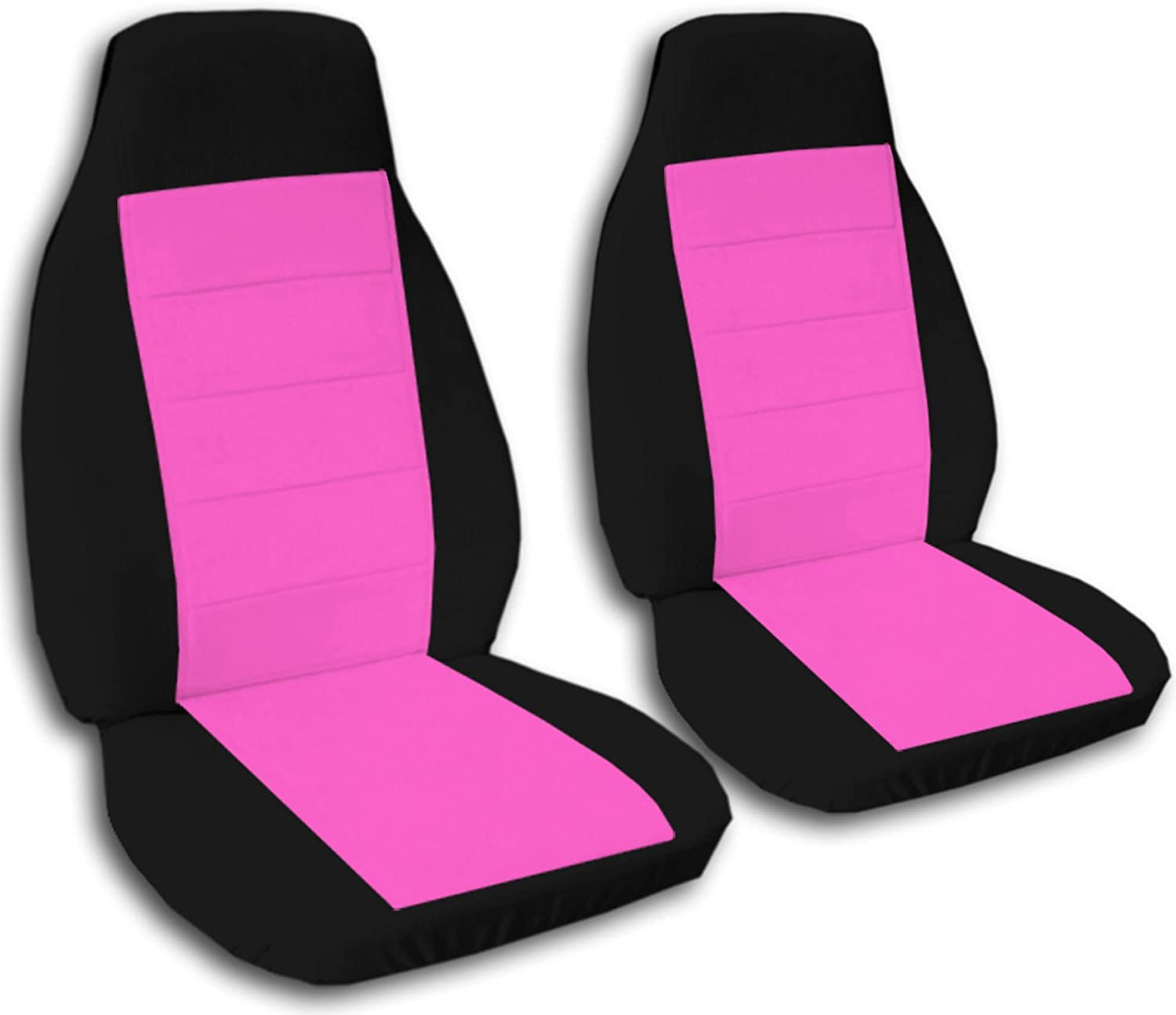 Totally Covers Compatible with 2004-2012 Chevy Colorado/GMC Canyon Two-Tone Truck Bucket Seat Covers: Black and Hot Pink (21 Colors) Chevrolet