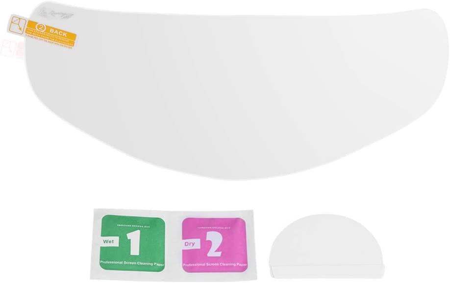 Yunnyp Motorcycle Waterproof Helmet Film,Waterproof Motorcycle Helmet Lens Film Visor Shield Scratch Protector Sheets Universal