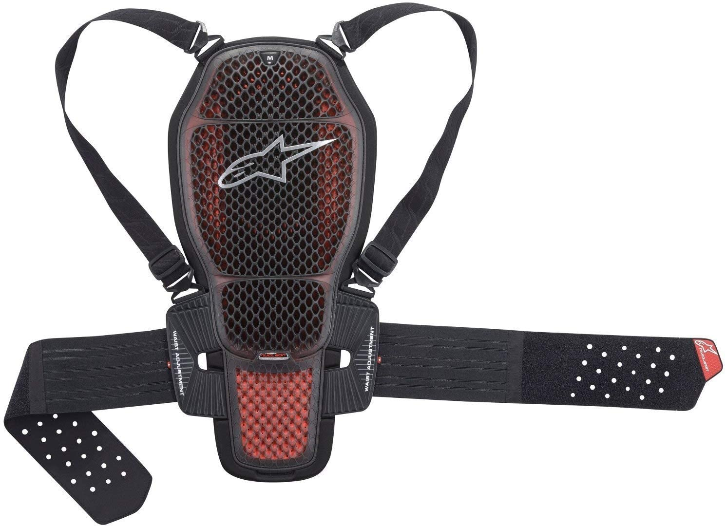 Alpinestars Nucleon KR-1 Cell Motorcycle Back Protector, Black/Red, X-Large