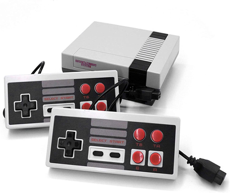 Classic Mini Retro Game Console, AV Output NES Video Game Console Built-in 620 Games with 2 Classic Controllers(Update Version)