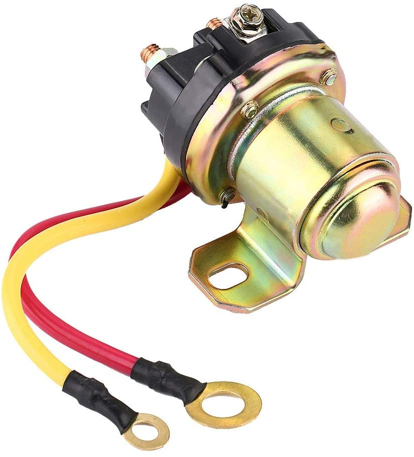 Vehicle Start Relay, Starter Motor Relay Starter Solenoid Relay Power Relay Fits All Domestic And Imported 12-24V Starter