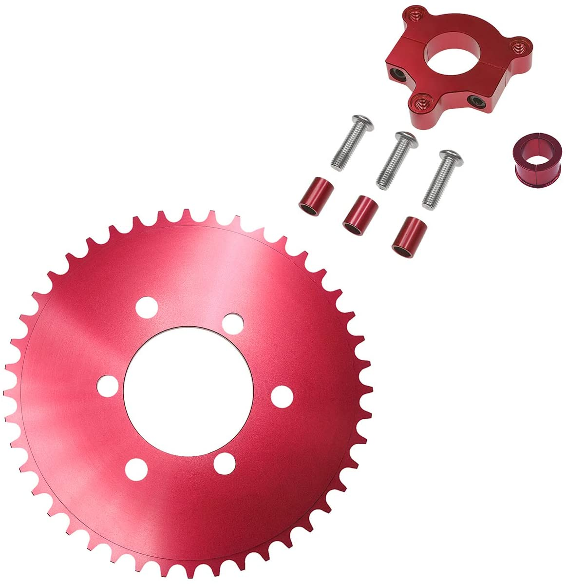 Supermotorparts Red CNC Adapter 44T Sprocket Fits 1