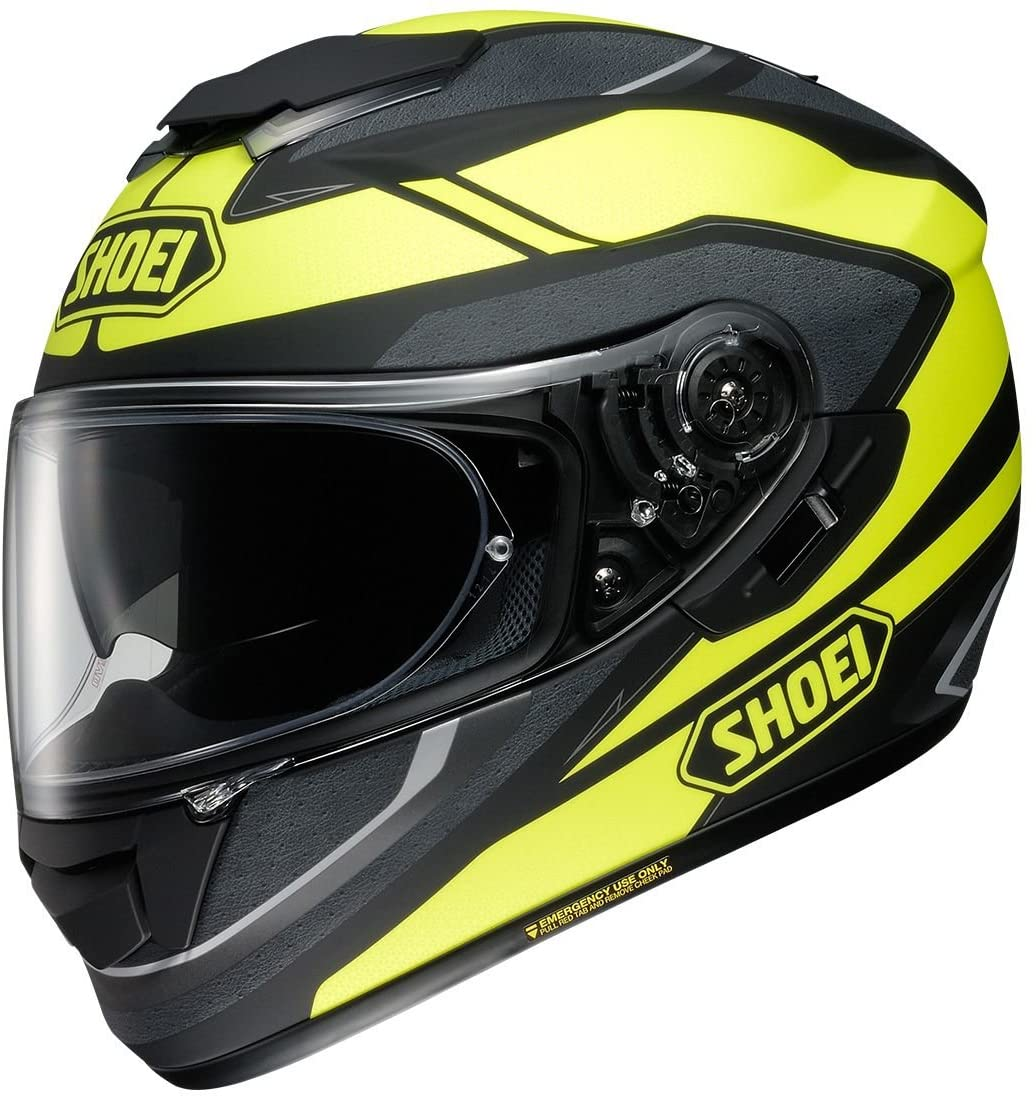 Shoei GT-Air Swayer Matte Black/Yellow Full Face Helmet - Medium