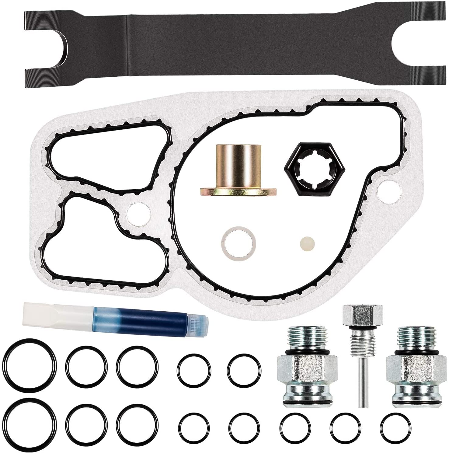 High Pressure Oil Pump Master Service Kit with O-Ring Seal Kit & Base Gasket fit for Ford Powerstroke 7.3L Diesel 1994-2003