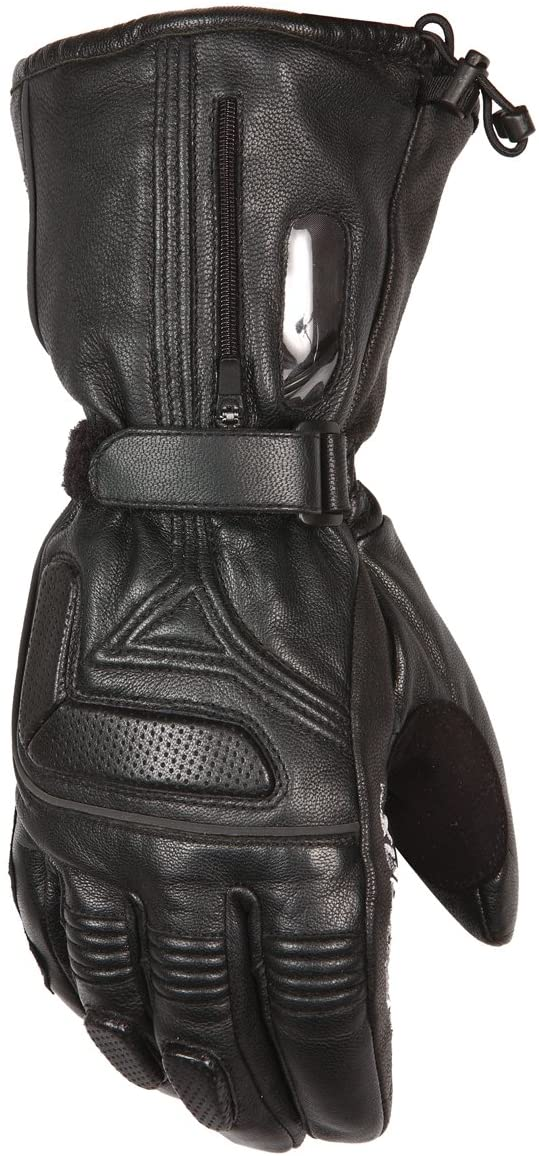 Mobile Warming LTD Max Mens Heated Leather Motorcycle Glove (Black, X-Small)