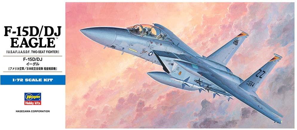 Hasegawa 1/72 Scale F-15D / DJ Eagle, D Series USAF/JASDF Fighter Aircraft Model Kit # 00435