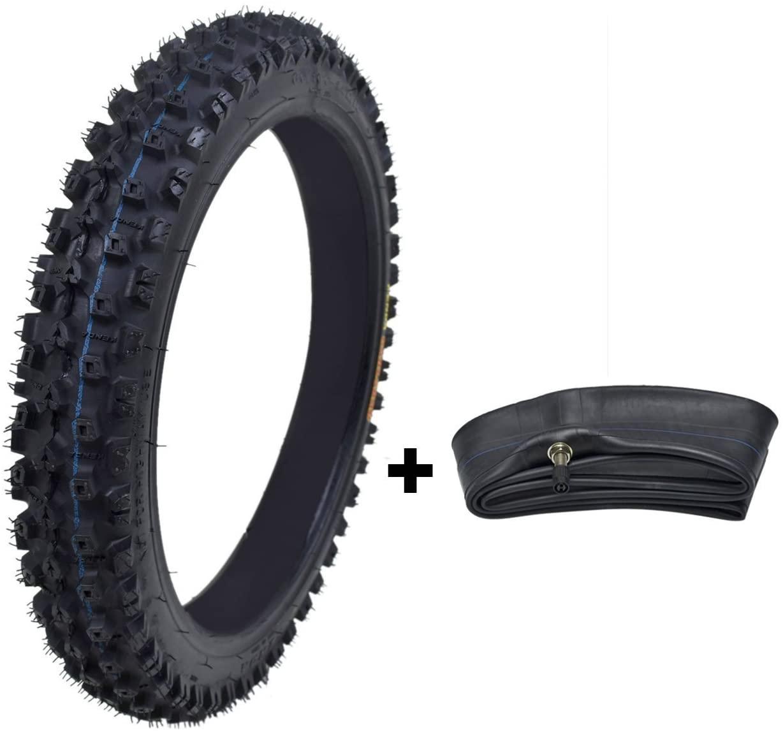 ZXTDR 60/100-14 Front Tire and Inner Tube Set for Dirt Pit Bikes Tires & Tubes