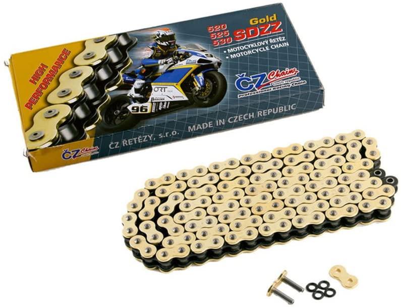 2009-2015 fits Yamaha XV250 V-Star XV 250 CZ SDZZ Gold X-Ring Chain 520-120 L