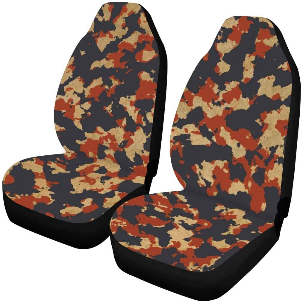 INTERESTPRINT Universal Seats for Car SUV Each Piece with Different Printing America Camo