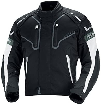 IXS Men's Torres Jacket (Black/White, Small)