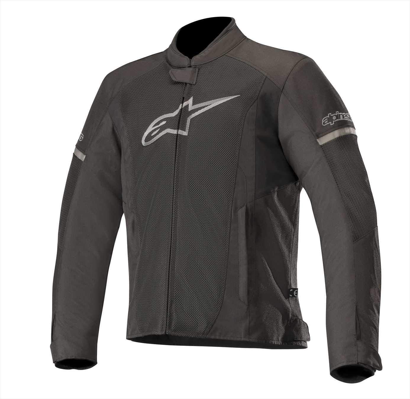 Alpinestars Men's T-Faster Air Motorcycle Jacket, Black/Black, Medium