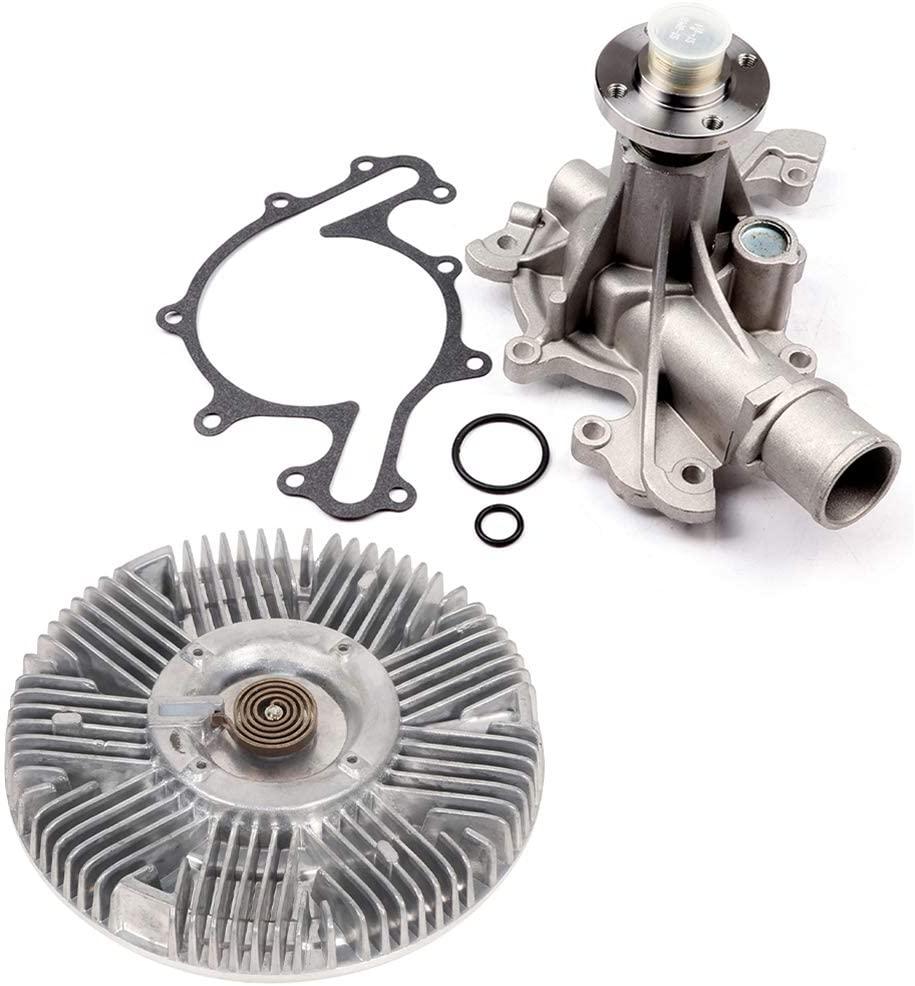 BCTimingparts Water Pump & Fan Clutch Kit For Ford E-150 Econoline Club Wagon E-150 E-150 Club Wagon E-250 Econoline 4.2L