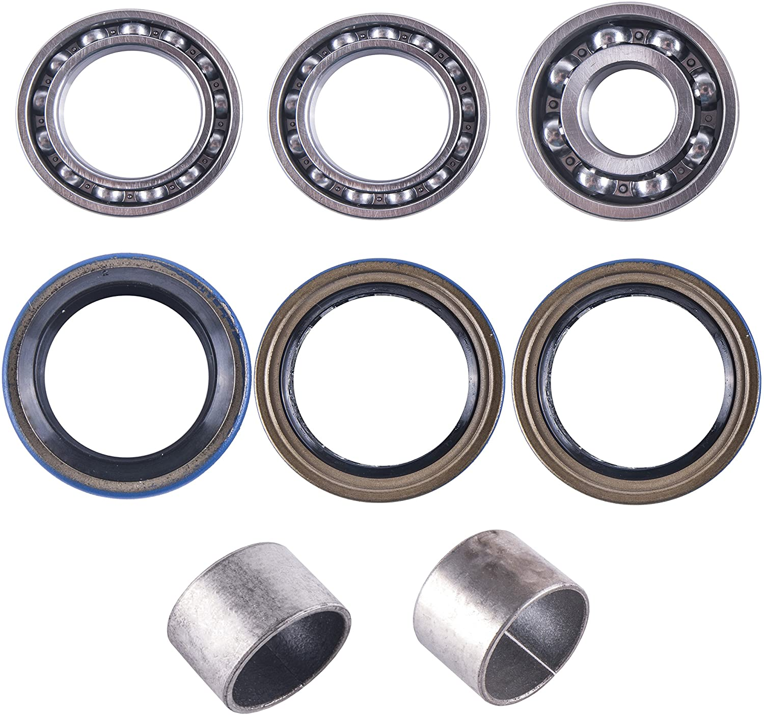 East Lake Axle rear differential bearing & seal kit compatible with Polaris Magnum 325/500 2000 2001 2002 Xpedition 425