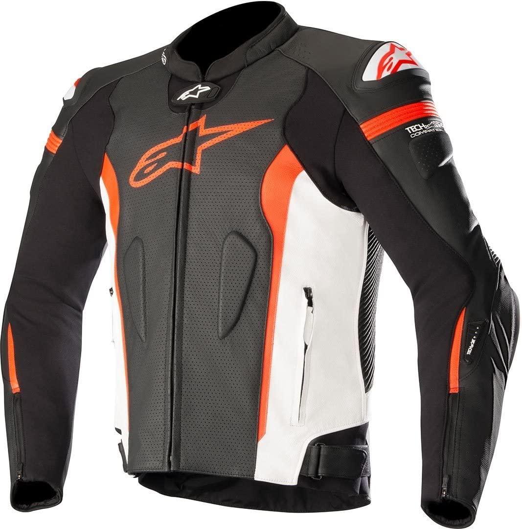 Alpinestars Men's 3100118-1230-54 Jacket (Black/White/Red, Size 54)