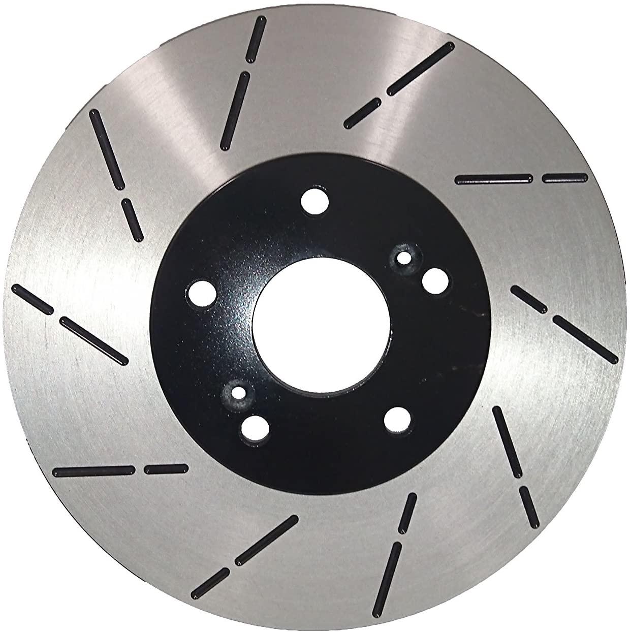 [Front Slott Brake Rotors Ceramic Pads] Fit 01-06 Hyundai Santa Fe 10.86