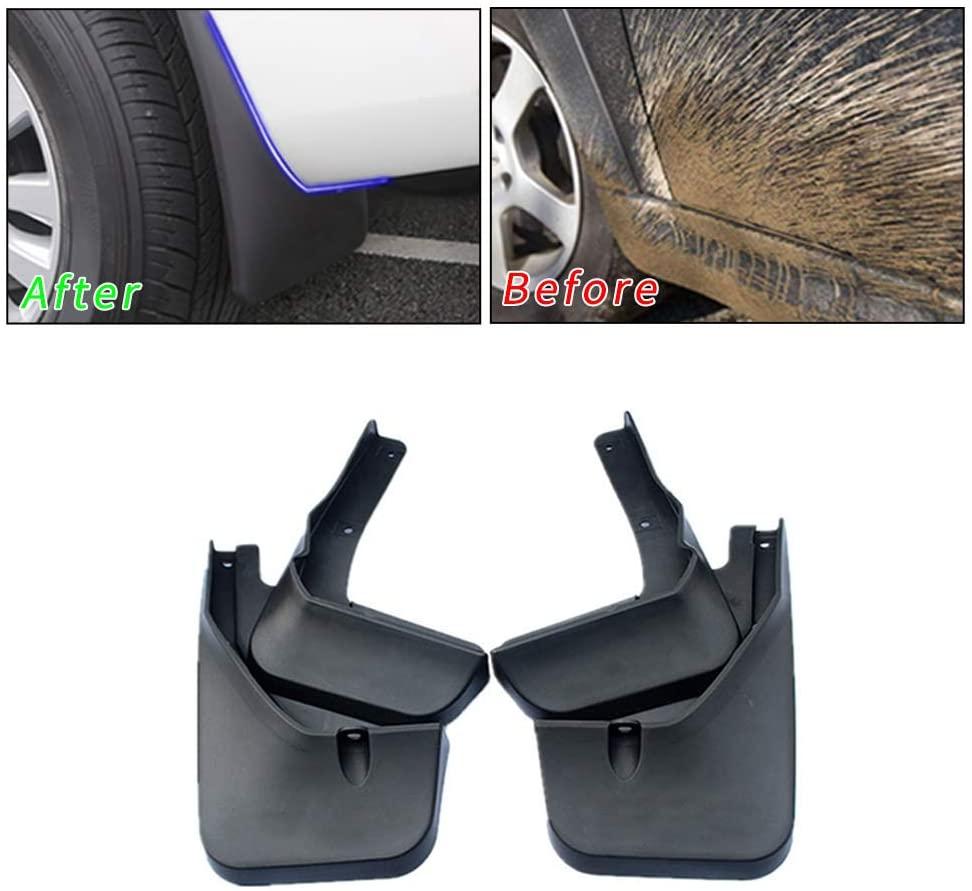 Upgraded Car Mud Flaps Splash Guards for Hyundai I30 Front Rear Mudguards Automotive Exterior Accessories Black 4-PC Set